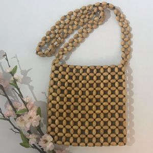 Beaded SAK Purse with Magnetic Button Snap Closure